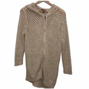 3/$30  open knit zipup sweater jacket XL hood
